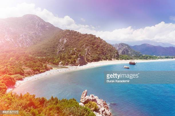 olympos beach - antalya province stock pictures, royalty-free photos & images