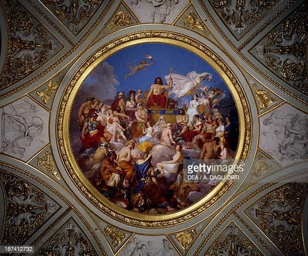 Olympus 18191820 fresco by Luigi Sabatelli Iliad room Palatine Gallery Pitti Palace Florence Italy 19th century
