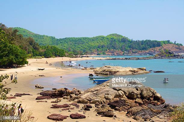 om beach - karnataka stock pictures, royalty-free photos & images