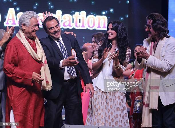Om Puri Dharmendra Neha Dhupia and Shakti Kapoor at Baisakhi Celebration cohosted by G S Bawa and Punjab Association Of India on April 13 2013 in...