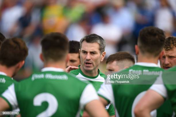 Omagh United Kingdom 3 June 2018 Fermanagh manager Rory Gallagher during the Ulster GAA Football Senior Championship SemiFinal match between...