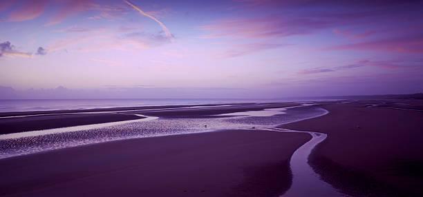 Omaha beach at dawn