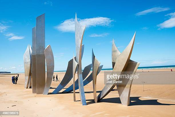 Omaha Beach Les Braves memorial - Normandy, France