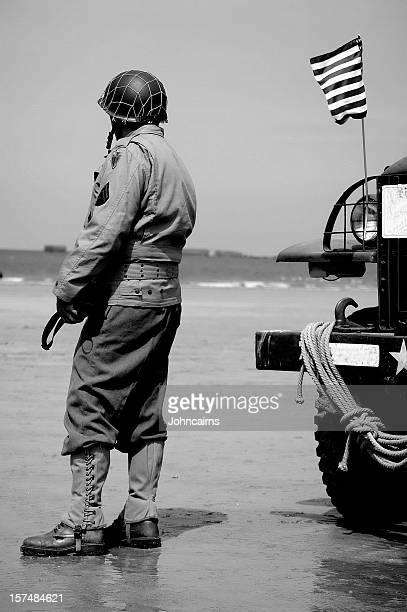 omaha beach soldier. - omaha beach stock pictures, royalty-free photos & images