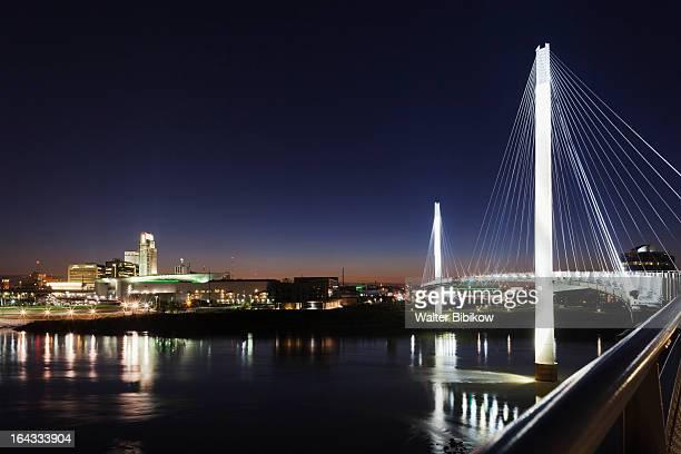 omaha, nebraska, city view - nebraska stock pictures, royalty-free photos & images