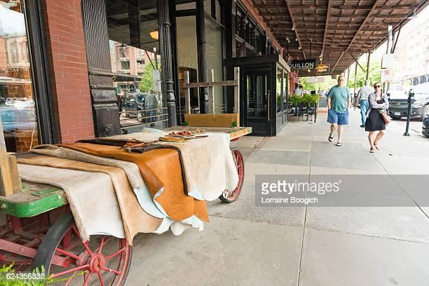 Omaha Nebraska Old Market Retail Business Sidewalk Display Midwest USA