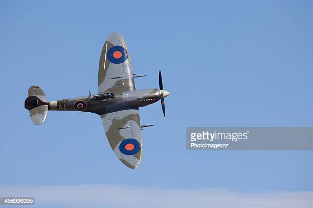 omaka air show, blenheim, new zealand - spitfire stock pictures, royalty-free photos & images