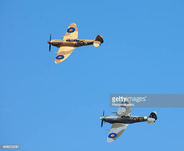 omaka air show, blenheim, new zealand - spitfire stock photos and pictures