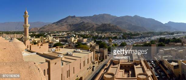 Oman, Ad-Dakhiliyah, Panoramic view of Nizwa