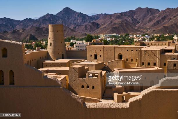 oman, ad-dakhiliyah region, bahla fort - image stock pictures, royalty-free photos & images