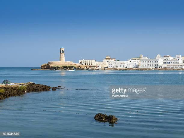 Oman, Ash Sharqiyah, Ad Daffah, seaport Sur with light house