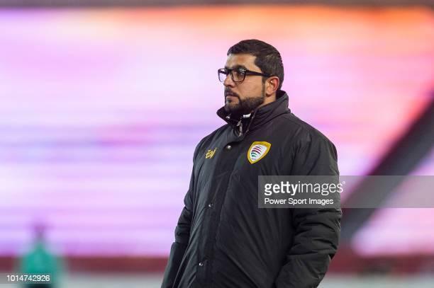 Oman Head Coach Hamad Khalifa Hamed AlAzani during the AFC U23 Championship China 2018 Group A match between Oman and Qatar at Changzhou Sports...