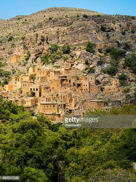 Oman, Jabal Akhdar, Abandoned village Wadi Bani Habin