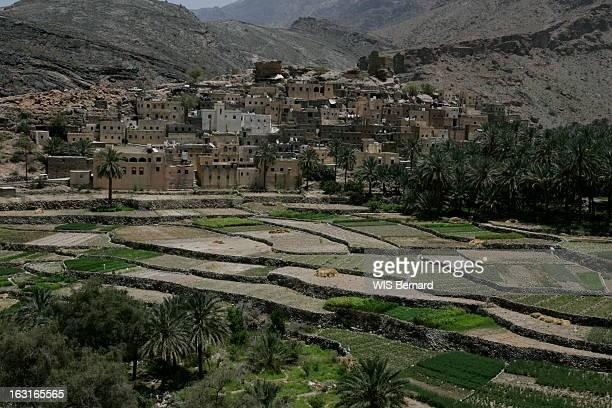 Oman La route de montagne entre Mascate et Nizwa passe par BALAD SEET village isolé dont l'architecture évoque à la fois les casbahs marocaines et le...