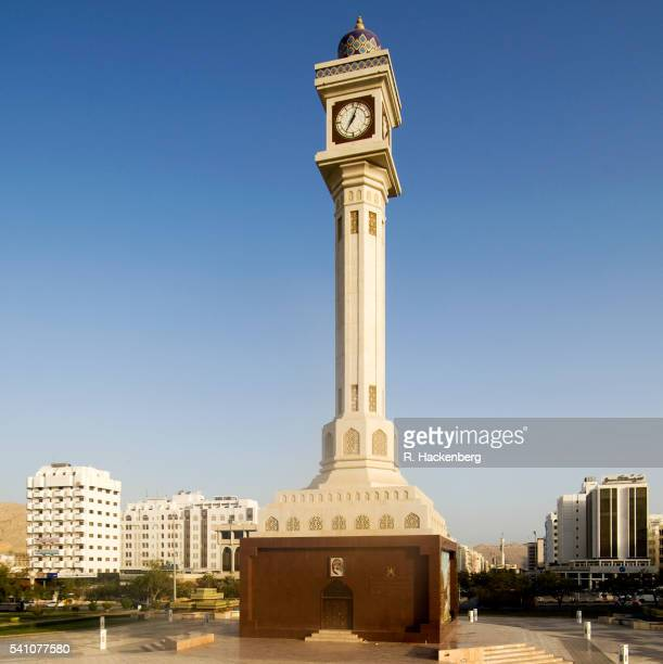 oman, muscat, clock tower - clock tower stock pictures, royalty-free photos & images