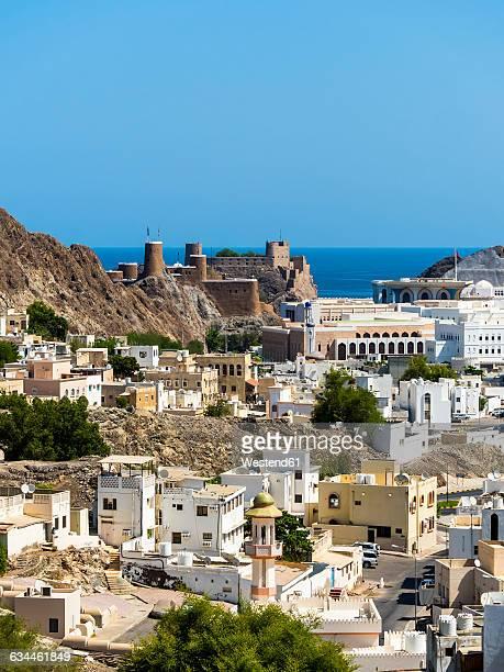 Oman, Muscat, Fort Mirani and Al Jalaili Fort