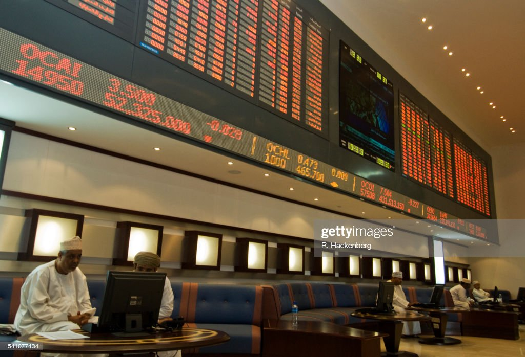 Oman Muscat Securities Market Stock Exchange High-Res Stock