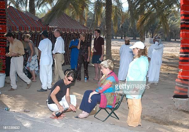 Johanna von Koczian Tanja Wedhorn Lebensgefährte Simon Raiser Dreharbeiten der ZDFReihe Traumschiff Folge 49 Oman Muscat/Oman/Arabien Hotel Al Bustan...