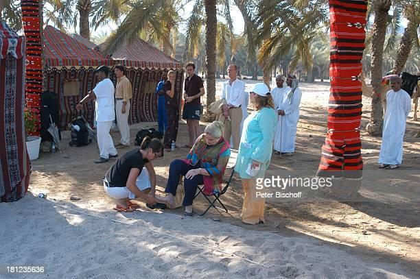 Johanna von Koczian Tanja Wedhorn Lebensgefährte Simon Raiser Hans Peter Korff Dreharbeiten der ZDFReihe Traumschiff Folge 49 Oman...
