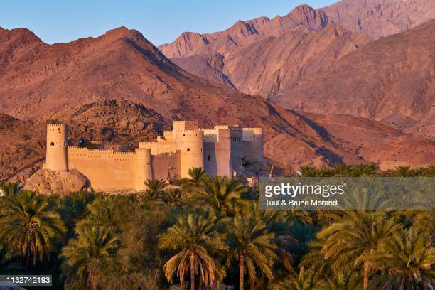 oman, nakhl, nakhl fort - image stock pictures, royalty-free photos & images
