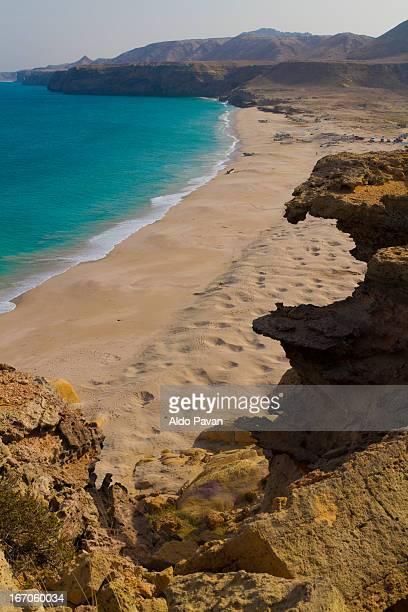Oman, Ras Al Jinz, view of the beach