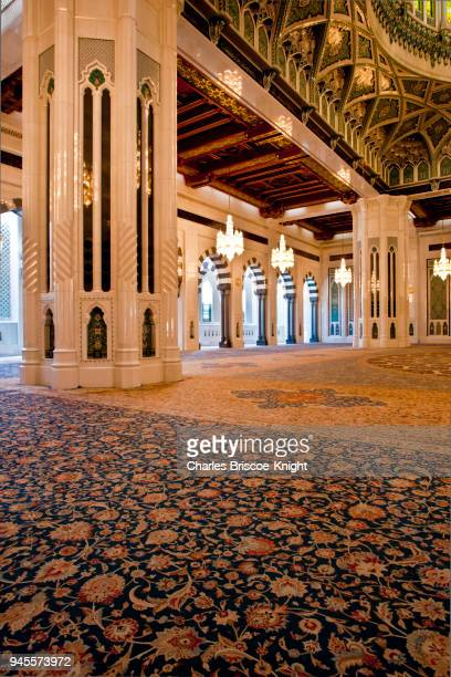 oman travel - grand mosque - sultan qaboos mosque stock pictures, royalty-free photos & images