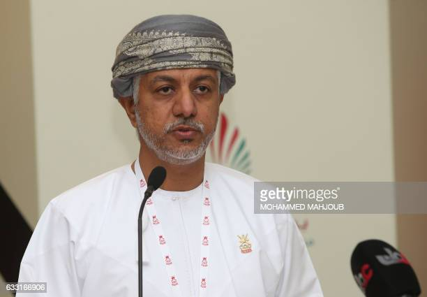 Omani Khalid bin Mohammed alZubair answers journalists' questions after he was elected as the new chairman of the Oman Olympic Committee on January...