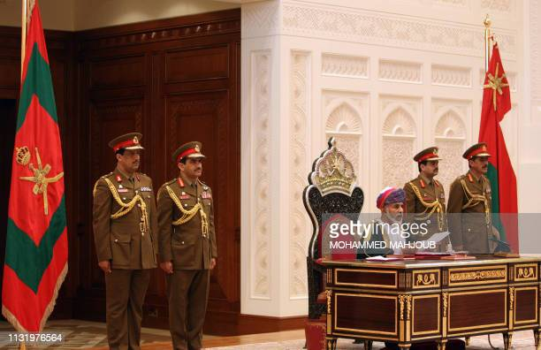 Omani Leader Sultan Qaboos bin Said addresses the opening session of the Council of Oman in Muscat on October 31 2011 AFP PHOTO/MOHAMMED MAHJOUB