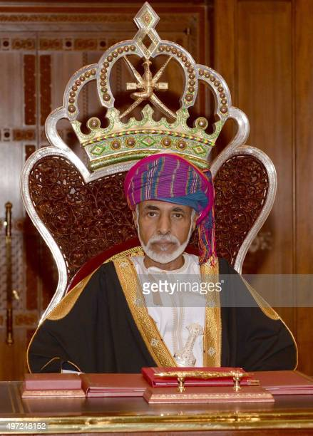 Omani Leader Sultan Qaboos bin Said addresses the opening session of the Council of Oman in the capital Muscat on November 15, 2015. AFP PHOTO / STR