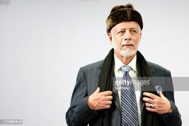 Omani Politician Yusuf bin Alawi bin Abdullah is seen at the National Stadium in Warsaw Poland on February 14 2019 during the Middle East summit The...