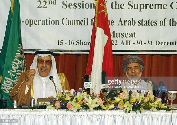 Oman's minister responsible for foreign affairs Yussef bin Alawi bin Abdullah and the secretary general of the sixnation Gulf Cooperation Council...