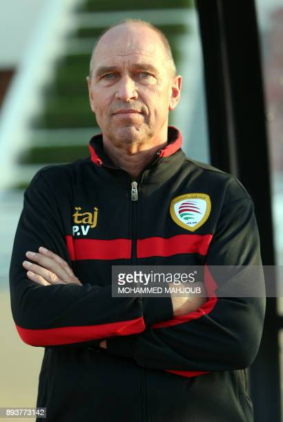 Oman's national football team coach Peter Tim Verbeek poses for a picture prior to his friendly game against Yemen in Muscat on December 16 2017