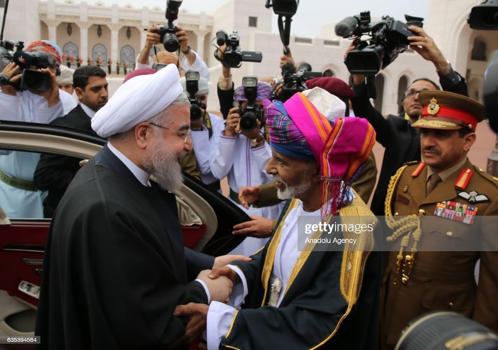 Irans President Rouhani in Oman on 1st leg of Gulf tour : News Photo