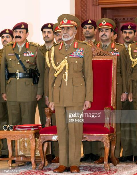 Oman's Sultan Qaboos bin Said attends a military parade in the capital Muscat marking the Sultanates 46th National Day on November 18 2016