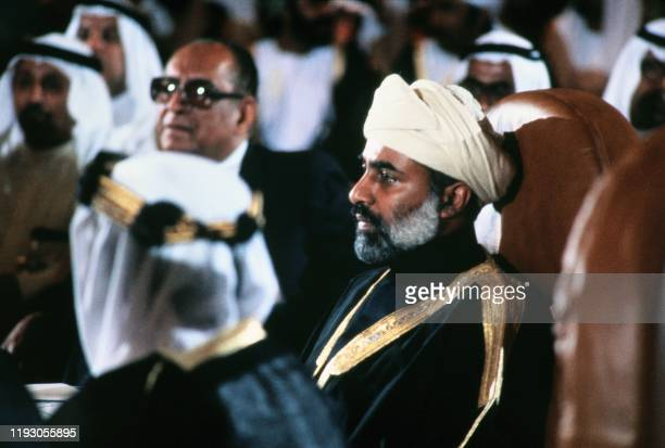 Oman's Sultan Qaboos bin Said takes part to the summit of the United Arab Emirates in June 1981 in Abu Dhabi