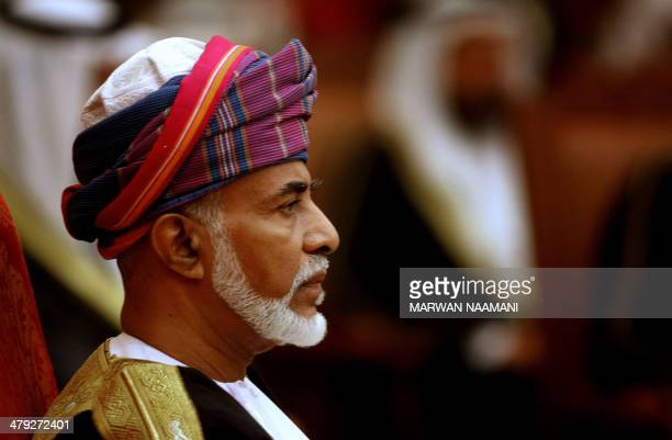 Oman's Sultan Qaboos chairs the opening session of the annual summit of the Gulf Cooperation Council in Muscat on December 29 2008 Qaboos called for...