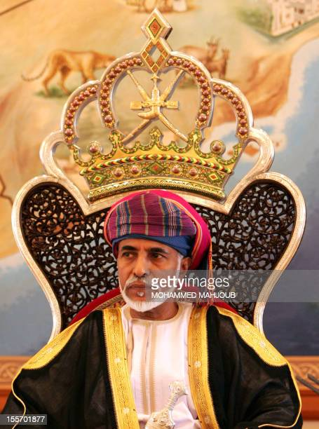 Oman's Sultan Qaboos gives his annual address to the state and consultative councils in Salalah south of Oman on October 2010 AFP PHOTO/MOHAMMED...