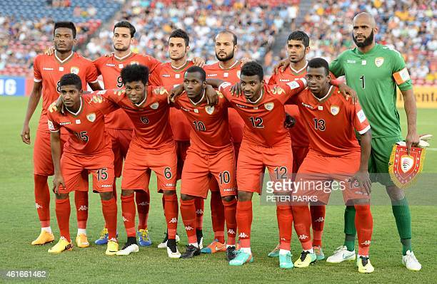 Oman's team poses for a photo before their game against Kuwait in their Group A football match of the AFC Asian Cup in Newcastle on January 17 2015...