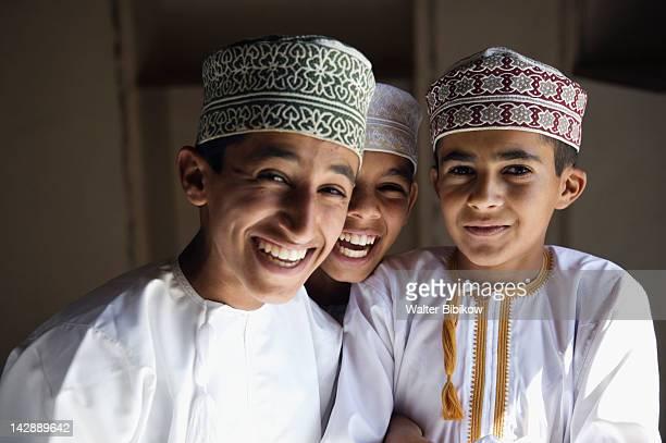 OMAN-Western Hajar Mountains-Jabrin: Jabrin Castle / Fort - Omani Schoolboys