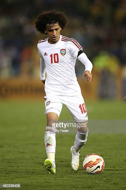 Omar Abdulrahman of The United Arab Emirates in action during the Asian Cup Semi Final match between the Australian Socceroos and the United Arab...