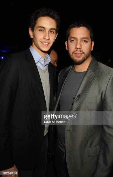Omar Al Fayed and David Blaine attend the launch party of the new LG Shine mobile phone, at Club Cirque on February 7, 2007 in London, England.