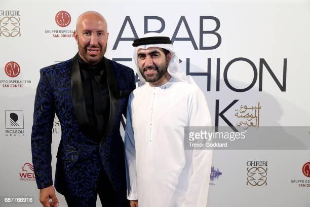 Omar Al Marzooqi and Wadih El Najjar attend the Arab Fashion Week Ready Couture Resort 2018 Gala Dinner on May 202017 at Armani Hotel in Dubai United...