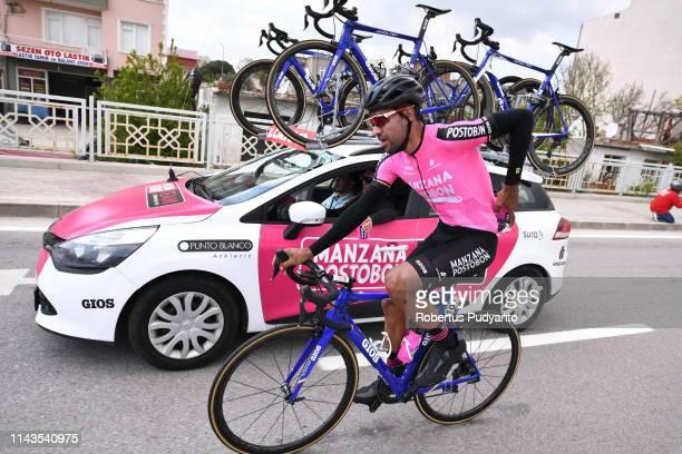 Omar Alberto Mendoza Cardona of Manzana Postobon Team competes during Stage 3 of the 55th Presidential Cycling Tour of Turkey 2019 Canakkale to...