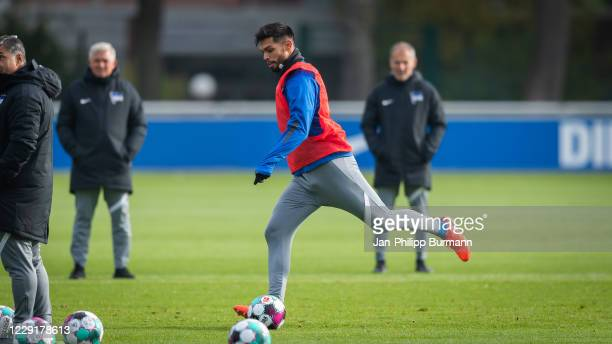 Omar Alderete of Hertha BSC during the training session on October 20 2020 in Berlin Germany