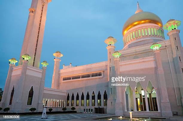 omar ali saifuddien mosque in brunei - bandar seri begawan stock pictures, royalty-free photos & images