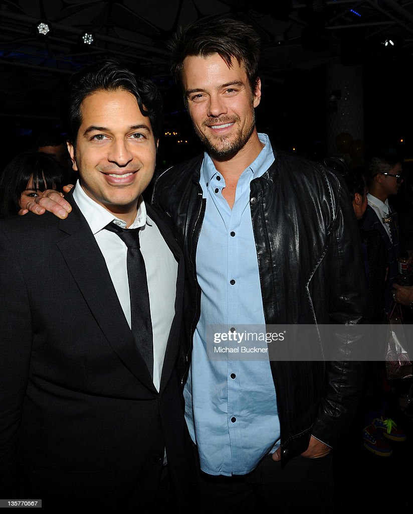 Omar Amanat, CEO of Charity Dreams (L) and actor Josh Duhamel attend APL.De.Ap's Birthday Celebration and Launch of Charity Dreams at The Conga Room at L.A. Live on December 13, 2011 in Los Angeles, California.