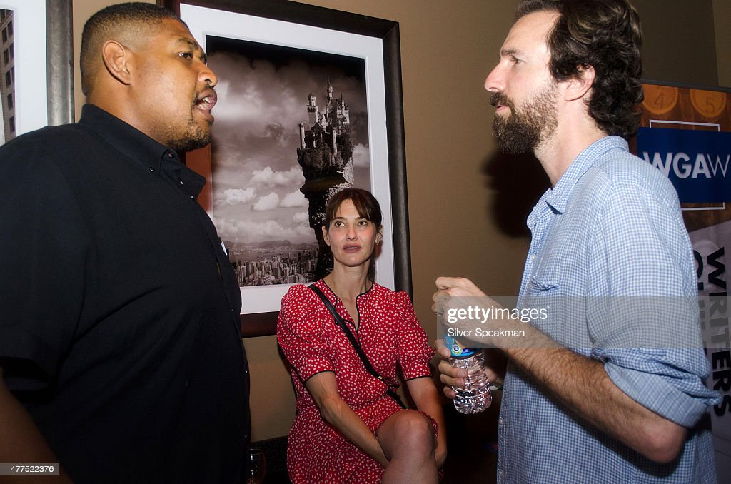 Omar Benson Miller, Alexa Landeau and guest attend the SAG/WAGw Party during the 2015 Los Angeles Film Festival at Lucky Strike Lanes at L.A. Live on June 15, 2015 in Los Angeles, California.