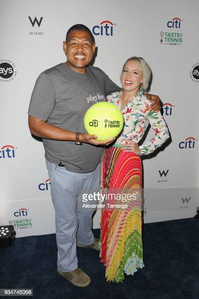 Omar Benson Miller and Bethanie Mattek Sands attend the Citi Taste Of Tennis Miami 2018 at W Miami on March 19 2018 in Miami Florida