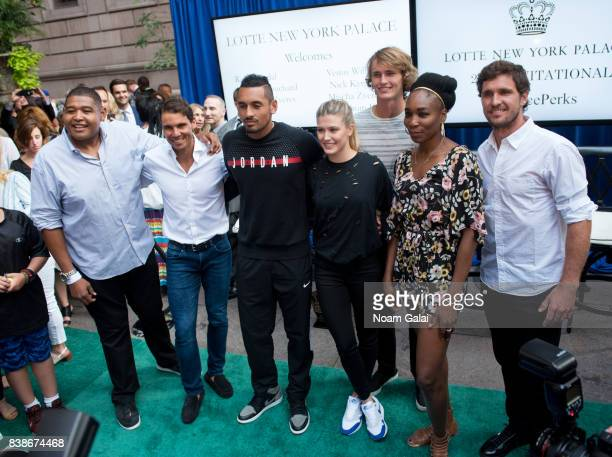Omar Benson Miller Rafael Nadal Nick Kyrgios Eugenie Bouchard Alexander Zverev Jr Venus Williams and Mischa Zverev attend the 2017 Lotte New York...