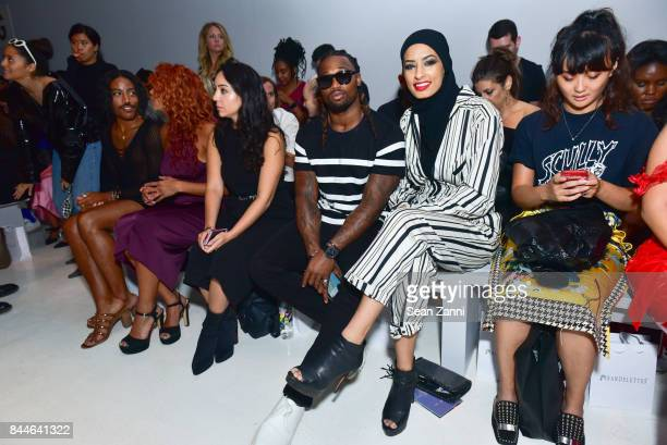 Omar Bolden and Iman Fendi attend Chromat Front Row September 2017 New York Fashion Week The Shows at Gallery 3 Skylight Clarkson Sq on September 8...